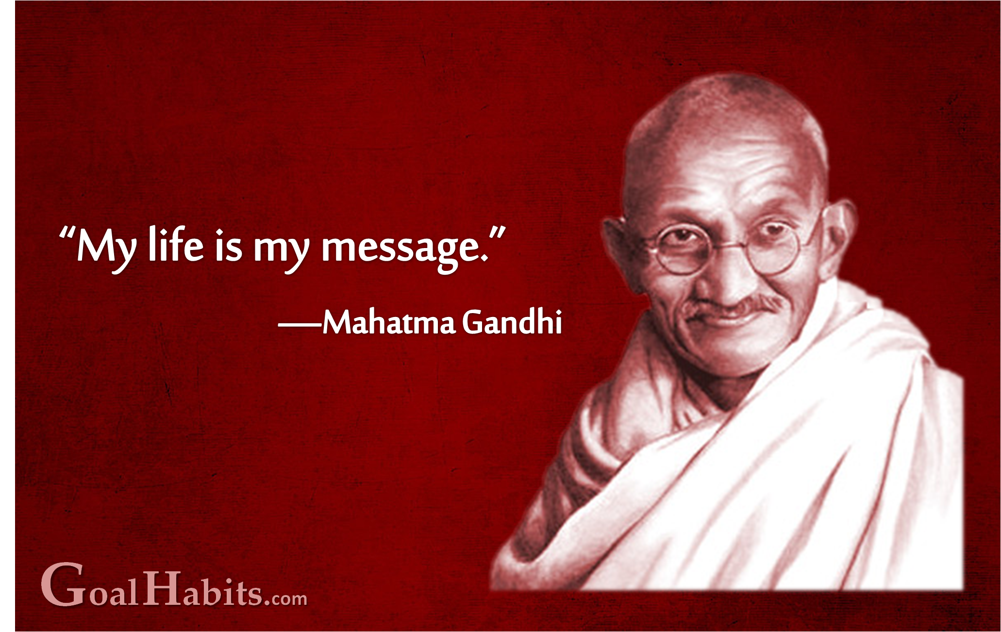 gandhi life message